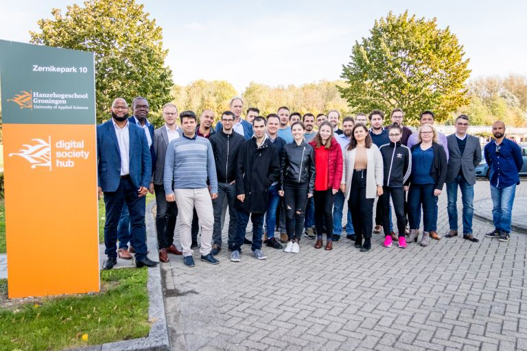 Internationale start-ups Roemenië bezoeken Hanzehogeschool Digital Society Hub